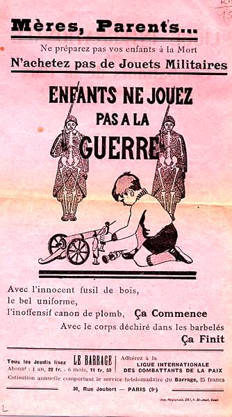Cartell de la Ligue International des Combattants de la Paix