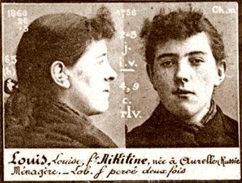 Foto policíaca de Louise Louis (ca. 1894)