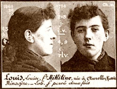 Foto policial de Louise Louis (ca. 1894)