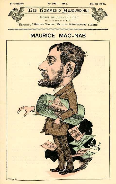 Maurice Mac-Nab segons una revista de l'època