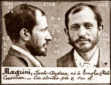 Foto policíaca de Santo Magrini (ca. 1894)