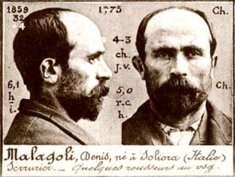 Foto policíaca de Dionigi Malagoli (ca. 1894)