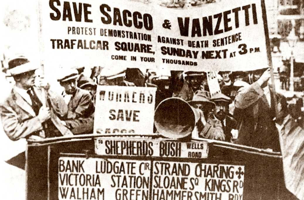 Manifestació en suport de Sacco i de Vanzetti