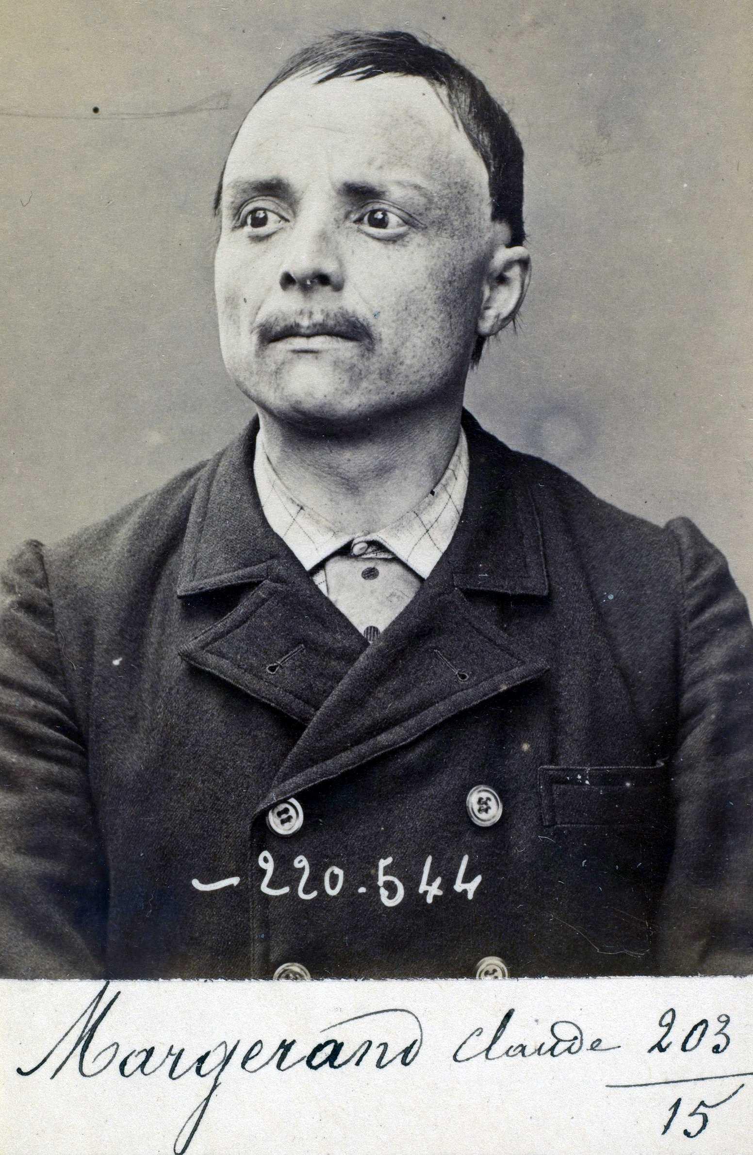 Foto policíaca de Jean-Claude Margerand (3 de juliol de 1894)