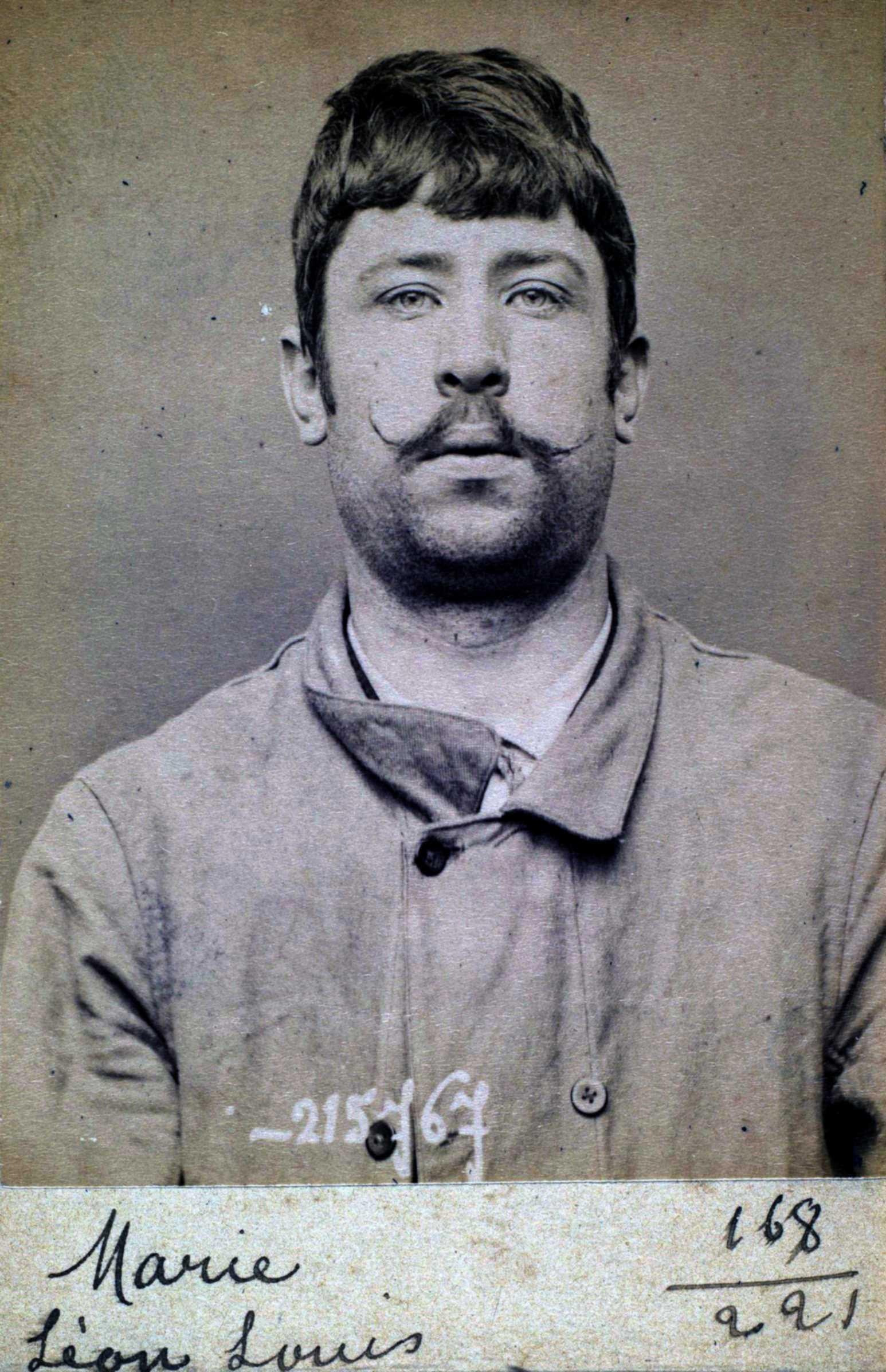 Foto policíaca de Léon Marie (16 de març de 1894)