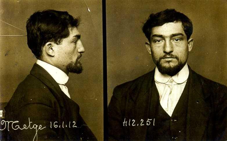 Marius Metge en una foto antropomètrica