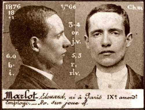 Foto policíaca d'Edouard Marlot (ca. 1894)