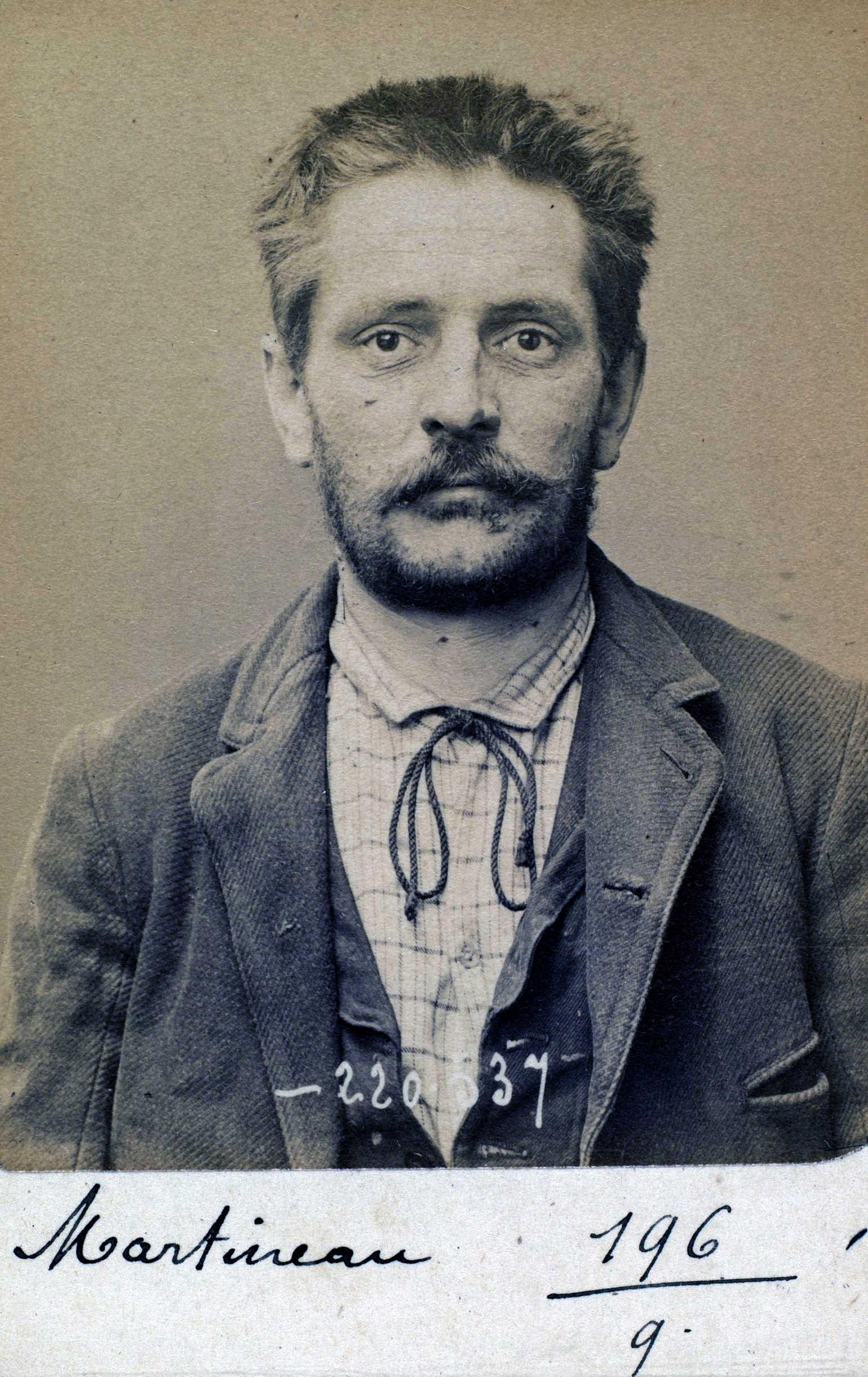 Foto policíaca de Jules Martineau (3 de juliol de 1894)