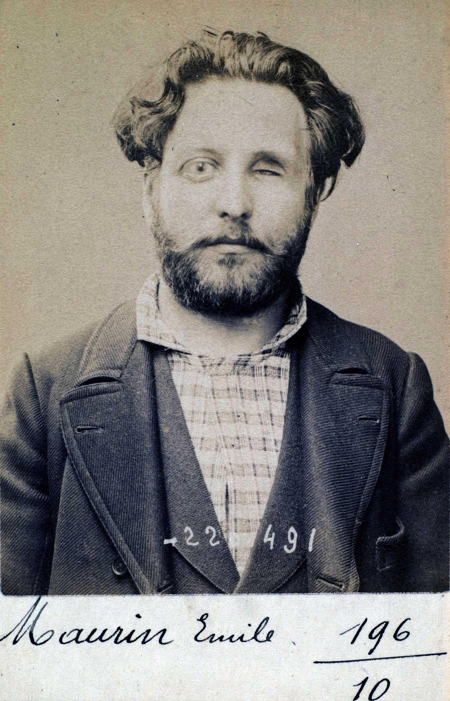 Foto policíaca d'Émile Maurin (2 de juliol de 1894)