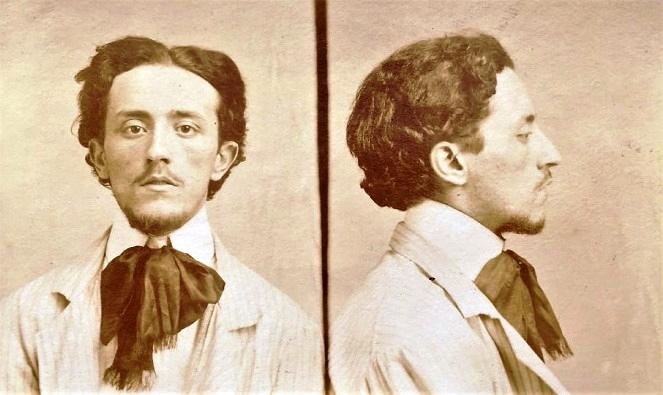 Foto antropomètrica de Carlo Melchionna (1907)
