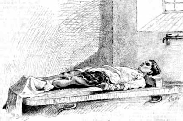 El cos de Paul Métayer després de l'explosió a l'hospital de Saint Jean de Brussel·les