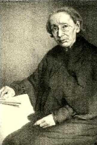 Retrat de Louise Michel realitzat per A. J. Alexandrovitch (ca. 1905)