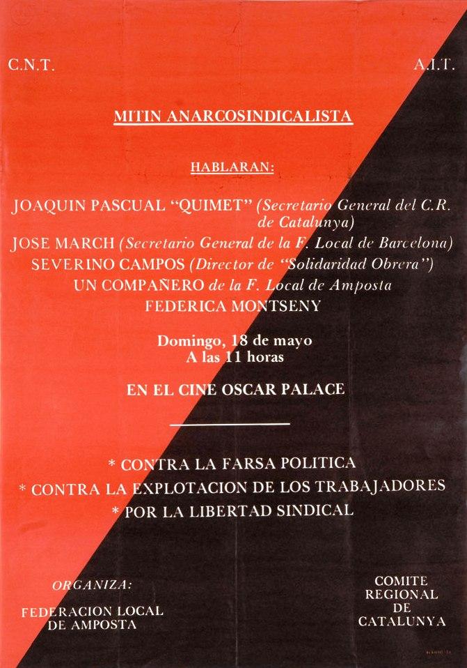 Cartell del míting
