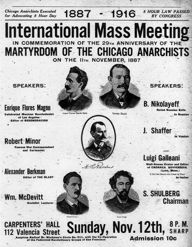 Cartell d'aquest míting commemoratiu