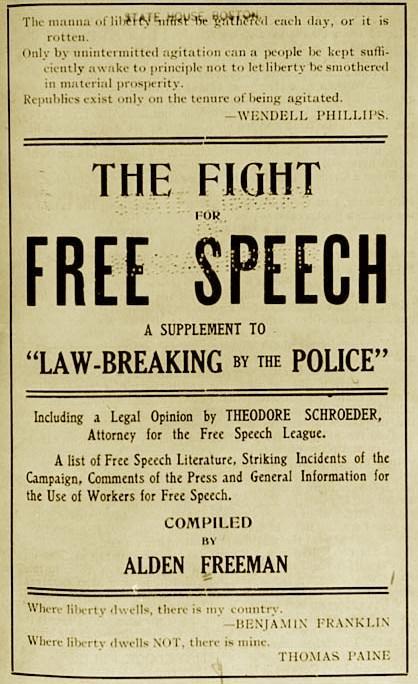 Portada del pamflet d'Alden Freeman que presentà al míting de la Cooper Union