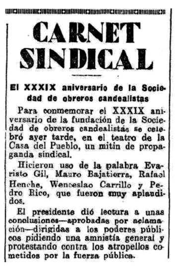 """Notícia del míting apareguda en l'""""Heraldo de Madrid"""" del 4 d'abril de 1931"""