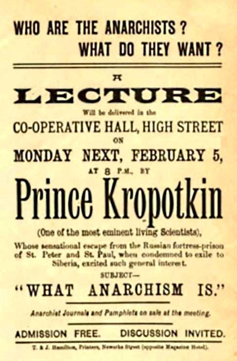 Cartell del míting de Kropotkin