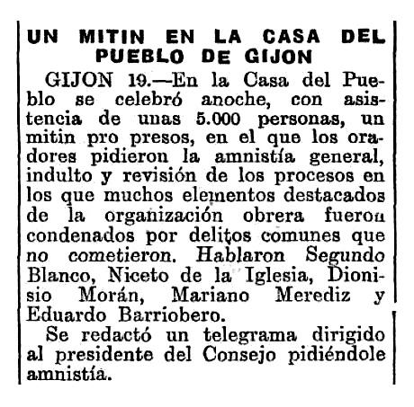 """Ressenya del míting apareguda en """"El Heraldo de Madrid"""" del 19 de març de 1931"""