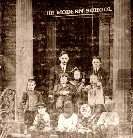 Will Durant i els seus pupils a l'Escola Moderna de Nova York