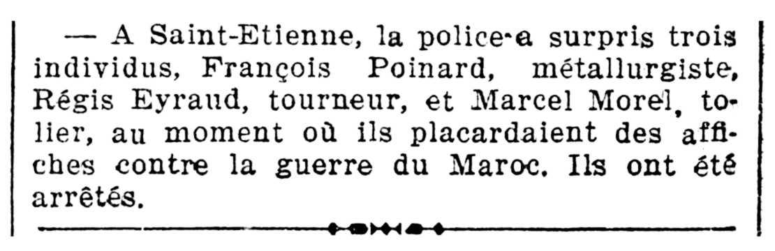 """Notícia de la detenció de Marcel Morel apareguda en el periòdic parisenc """"Le Rappel"""" del 10 d'agost de 1925"""