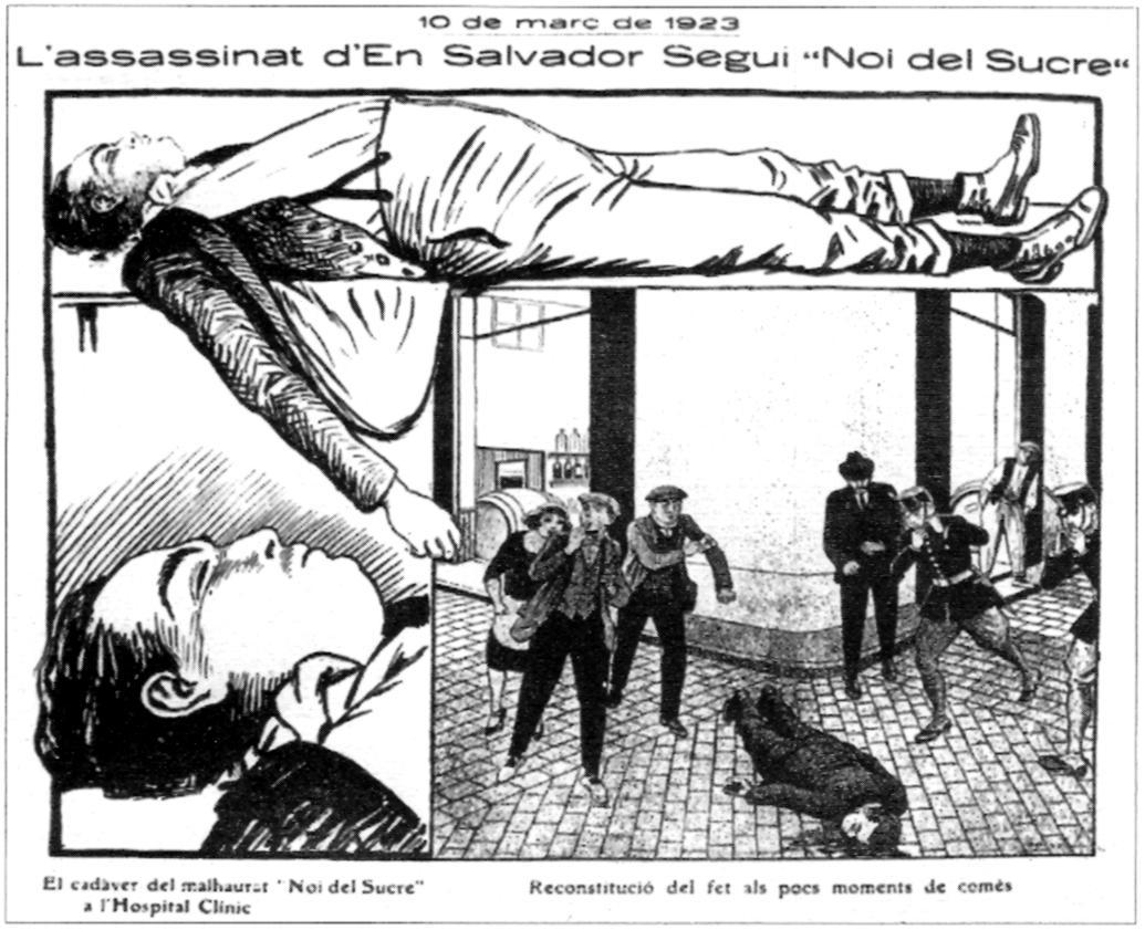 """Apunts de Ricard Opisso sobre la mort de Salvador Seguí publicats a """"La Campana de Gràcia"""""""
