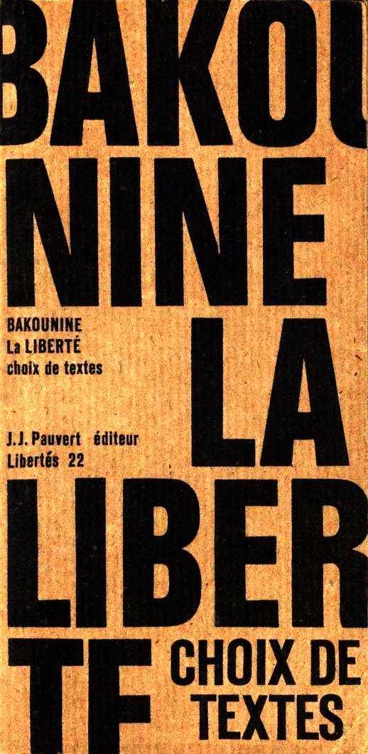 Portada de l'edició dels textos de Bakunin feta per François Muñoz
