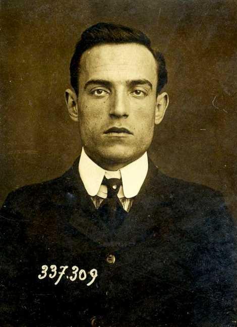 Foto policíaca de Jesús Navarro Botella (1905)