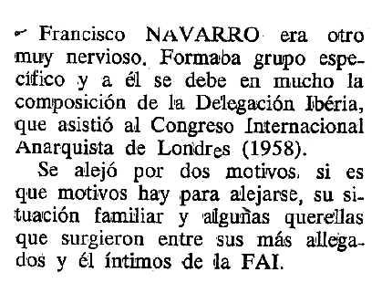 "Necrològica de Francisco Navarro Perié apareguda en el periòdic tolosà ""Cenit"" del 5 de juny de 1990"
