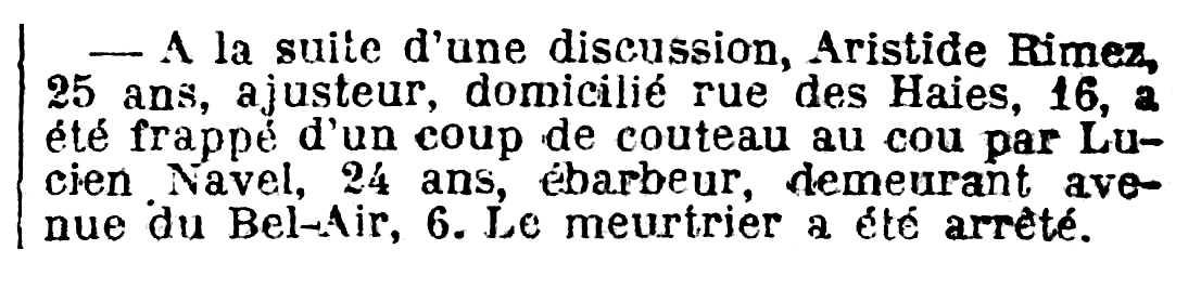 """Notícia de la detenció de Lucien Navel apareguda en el diari parisenc """"Le Journal"""" del 20 de juliol de 1918"""