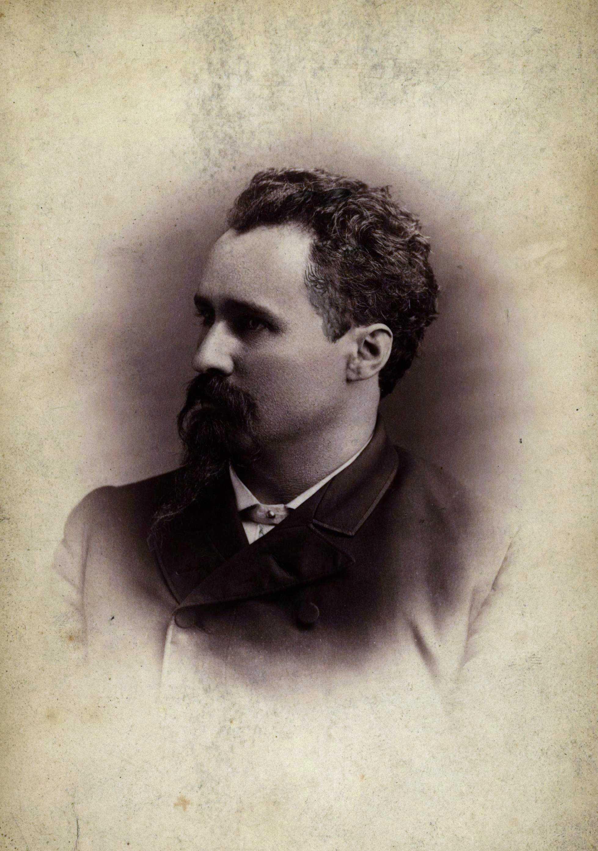 Oscar Neebe fotografiat per Jestram en 1887