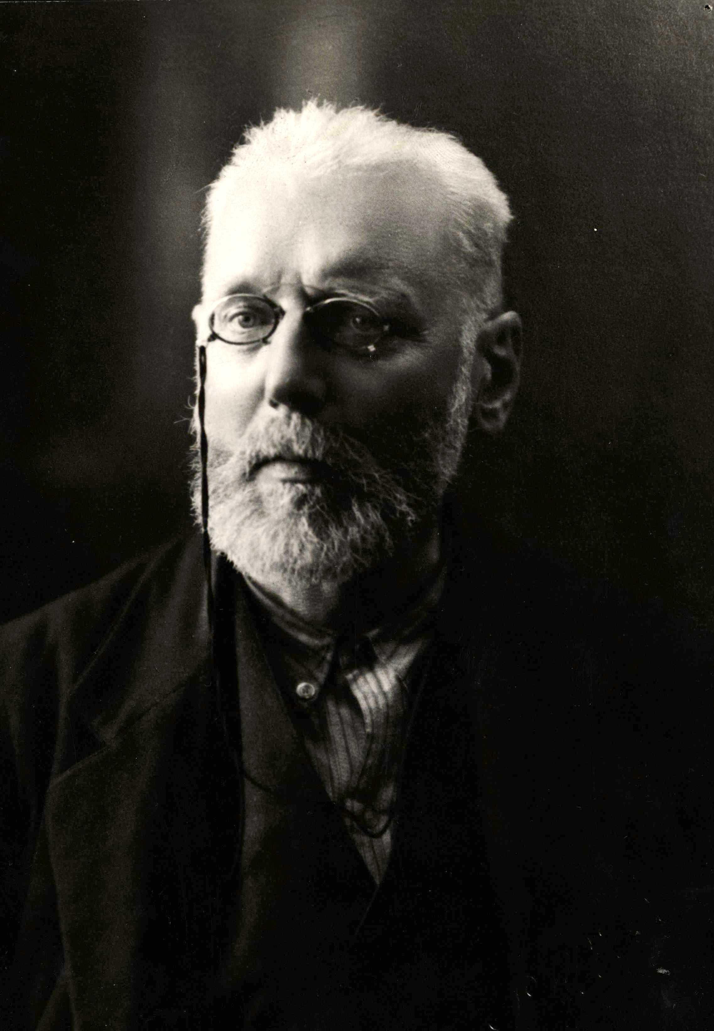Max Nettlau fotografiat per Pellicer (1928)