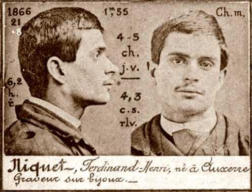 Fotografia policíaca de Ferdinand Niquet (ca. 1894)