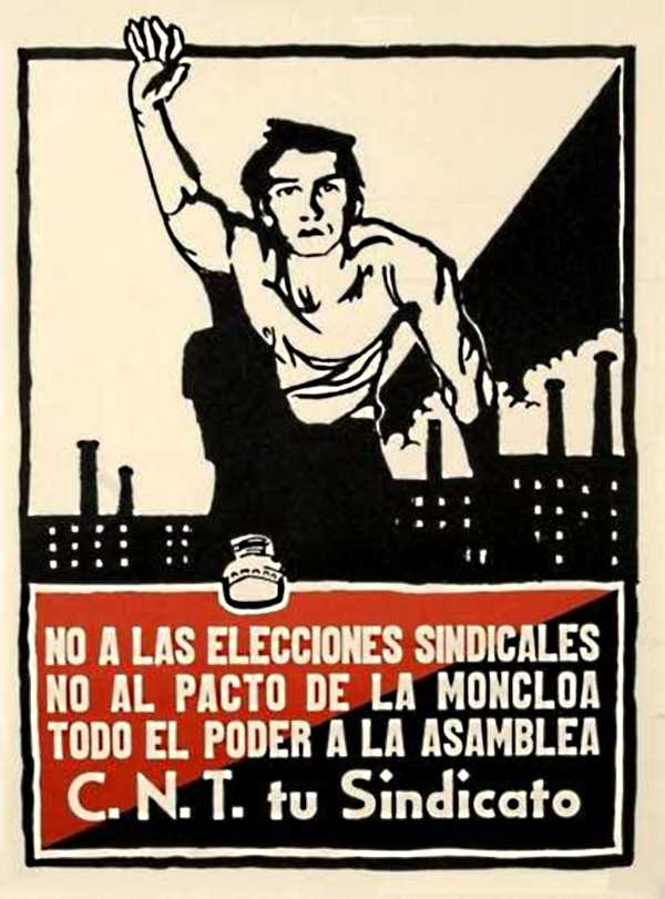Cartell cenetista contra les eleccions sindicals