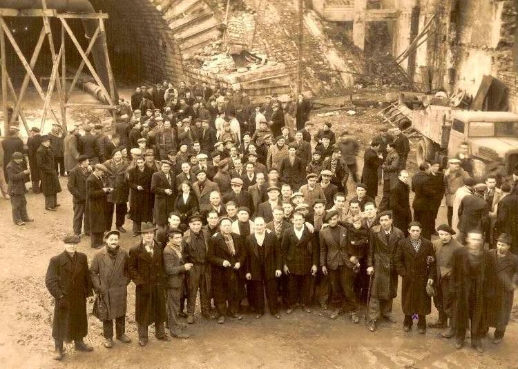Obrers del túnel de la Croix Rousse de Lió