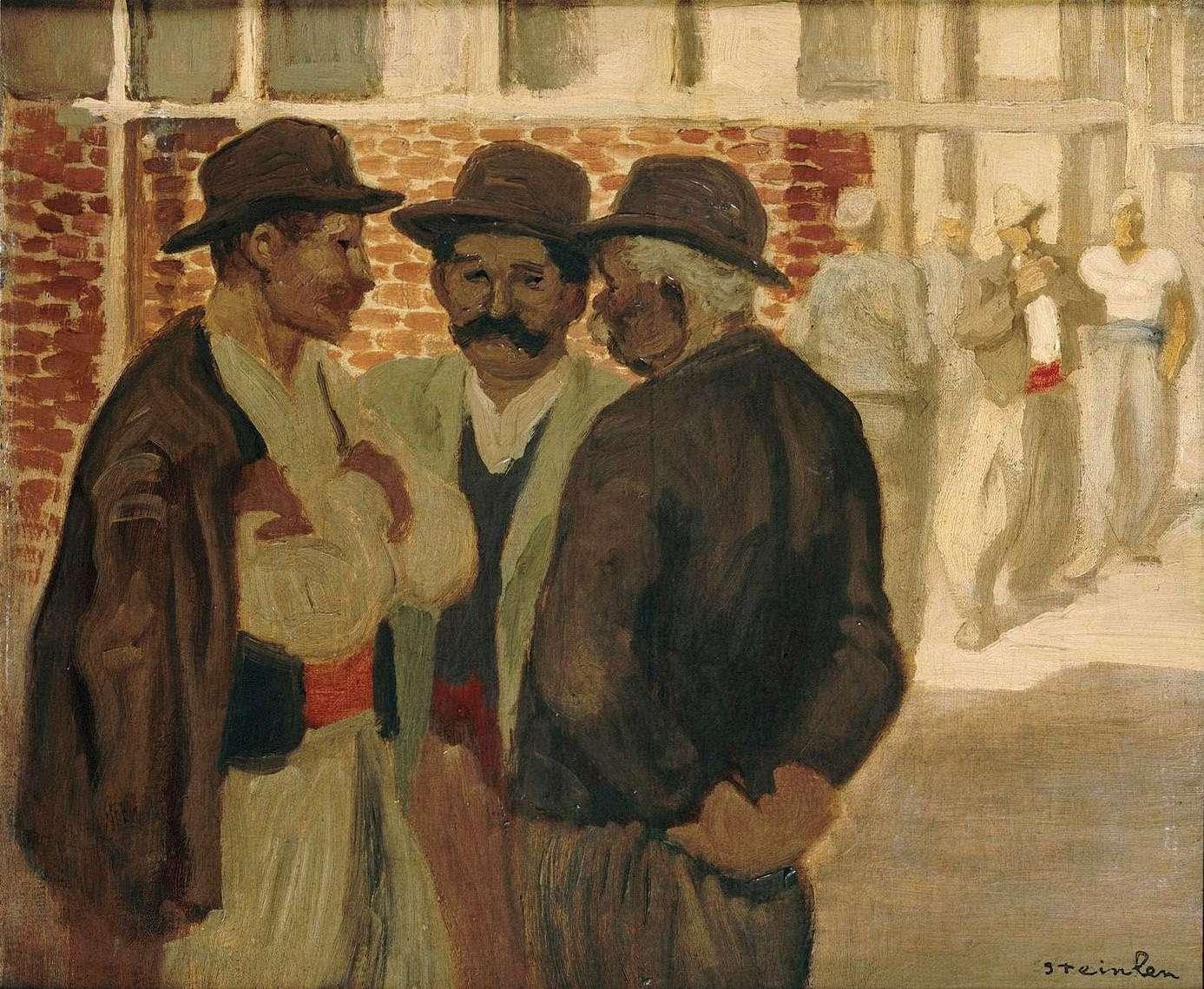 """Théophile Alexandre Steinlen: """"Ouvriers du bâtiment"""" (1911). Musée d'Orsay"""