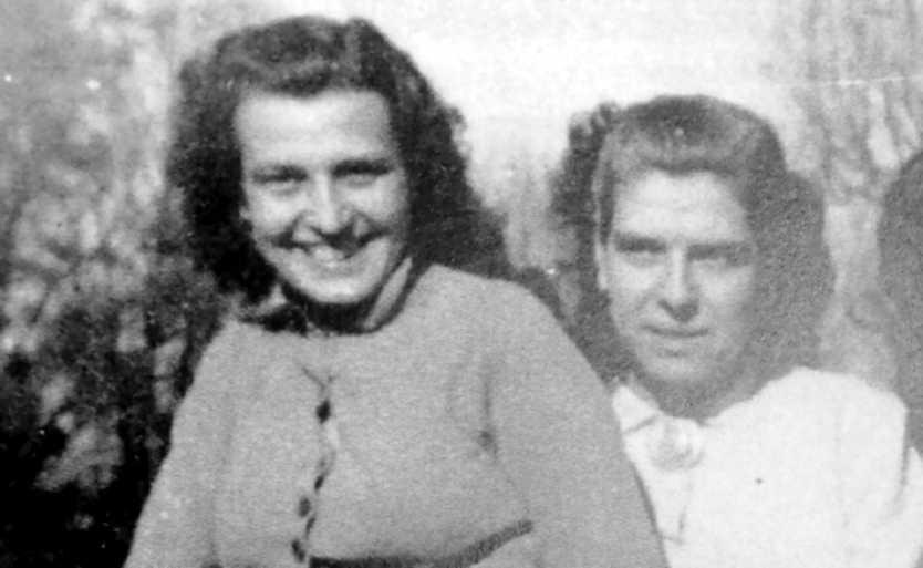 Eulàlia (esquerra) i Maria Pajerols Casals