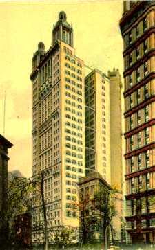 El Park Row Building, des d'aquí va ser llançat Salsedo