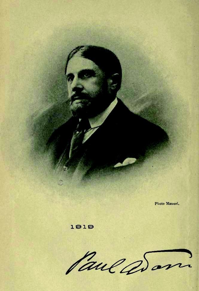 Paul Adam fotografiado por Manuel (ca. 1919)