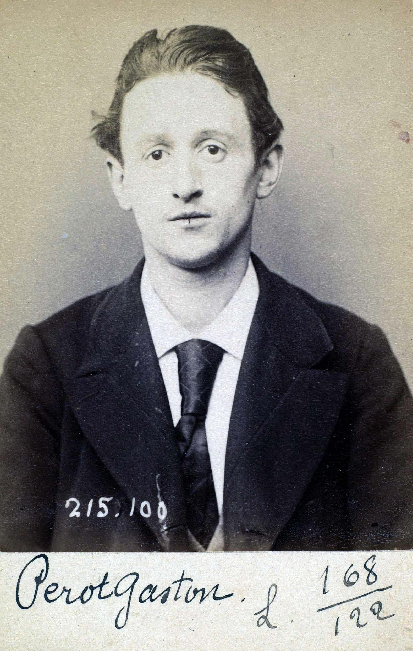 Foto policíaca de Gaston Pérot (4 de març de 1894)