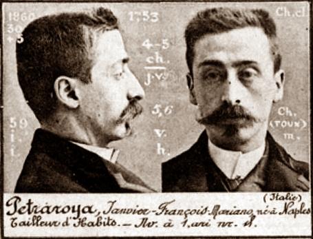 Foto policíaca de Gennaro Petraroja (ca. 1894)