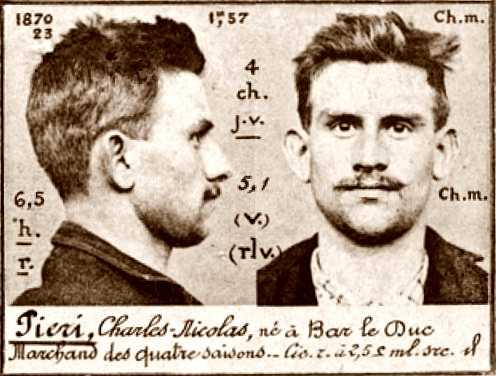 Foto policíaca de Charles Piéri (ca. 1894)