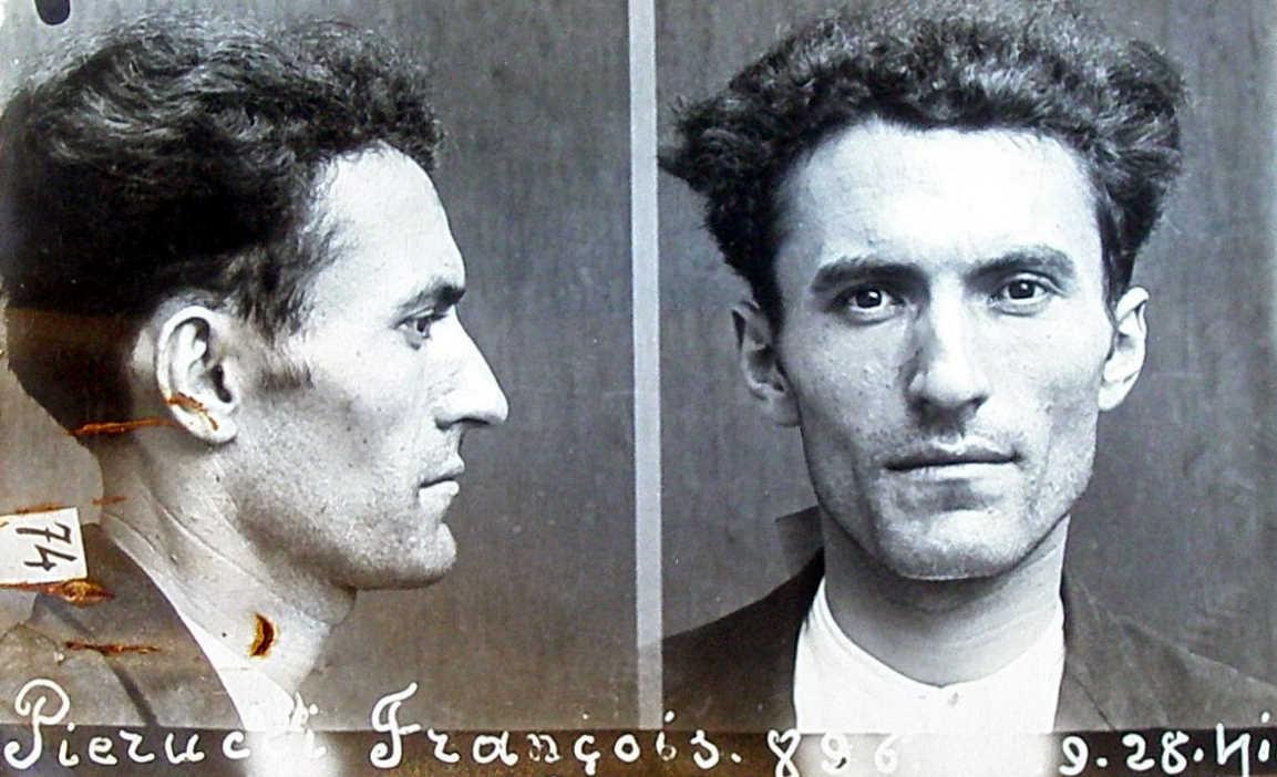 Foto policíaca de Francesco Pierucci (1935)