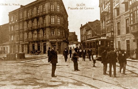 Plaça del Carmen de Gijón, lloc de l'atemptat