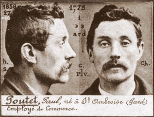 Foto policíaca de Paul Pontet (ca. 1894)