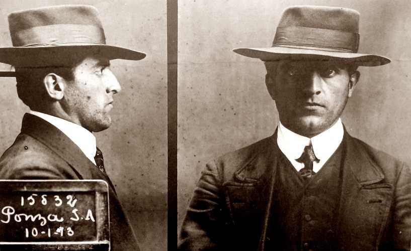 Foto policíaca de Giovanni Ponza (10 de gener de 1913)
