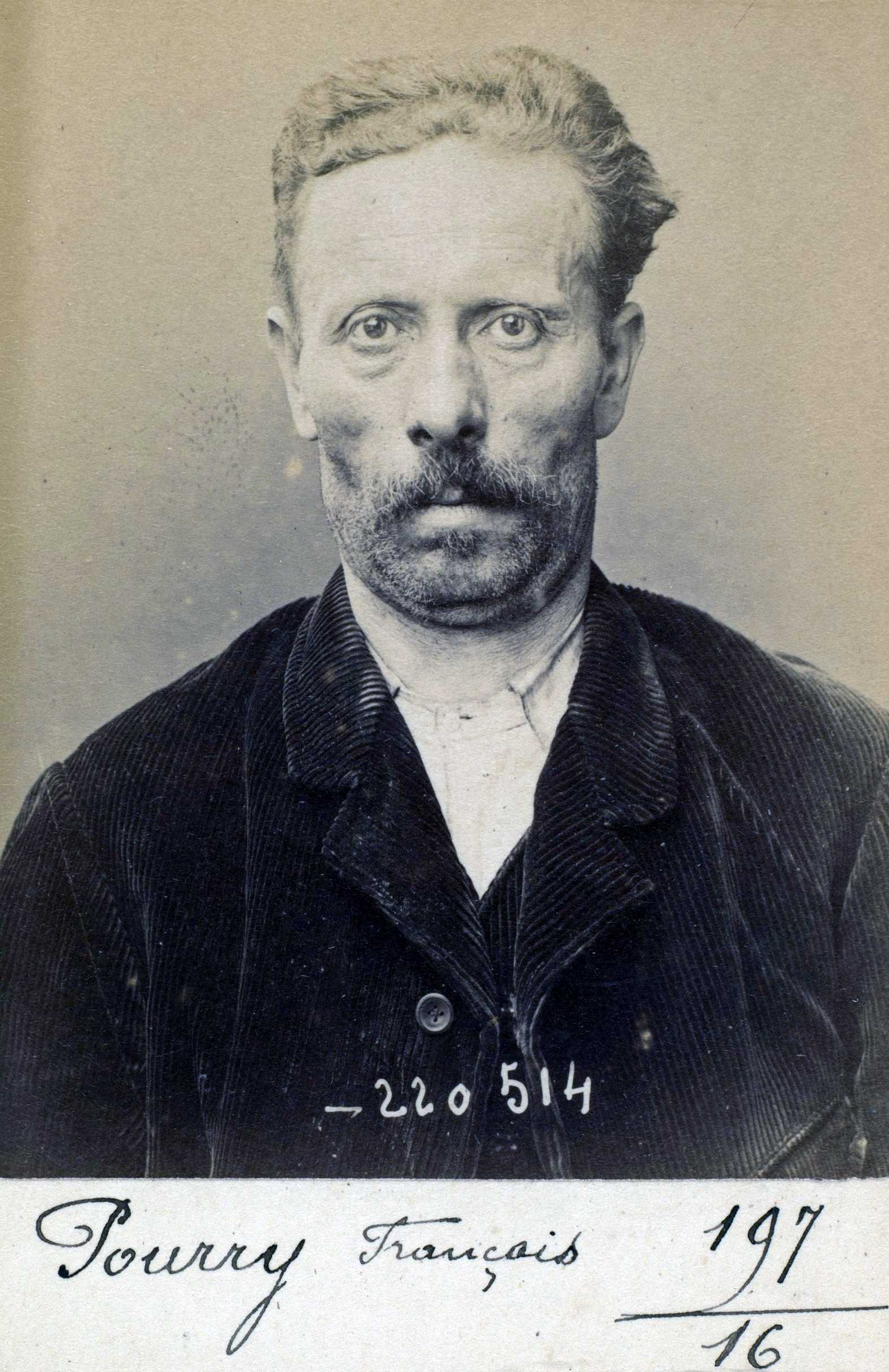 Foto policíaca de François Pourry (3 de juliol de 1894)