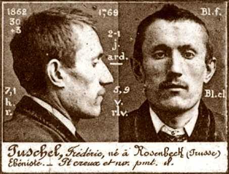 Foto policíaca de Frédéric Puschel (ca. 1894)