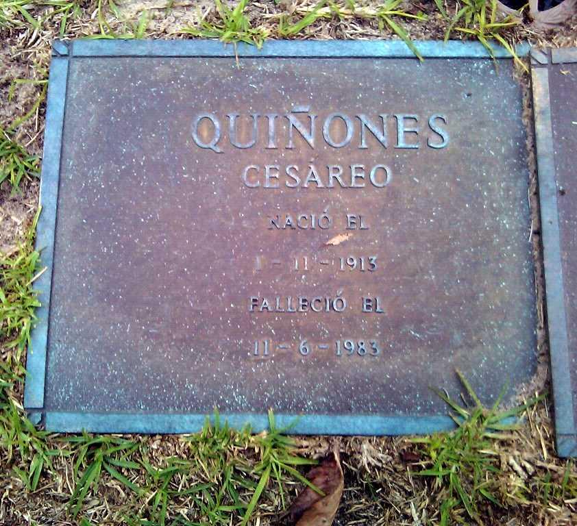 Tomba de Cesáreo Quiñones al Cheltenham New Cemetery de Melbourne