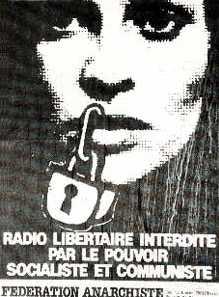 Cartell de denúncia de Radio Libertaire