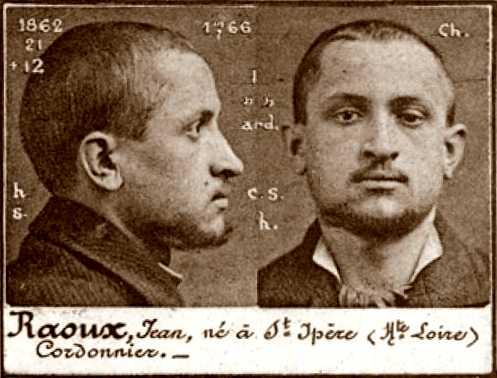 Foto policíaca de Jean Raoux (ca. 1894)
